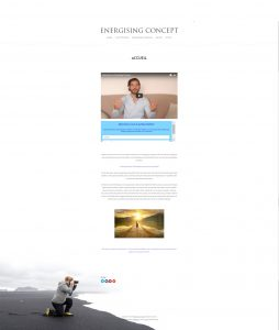 Page Accueil Energising Concept