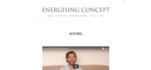 Page d'accueil Energising Concept - Proposition de valeur