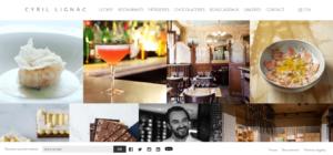 Exemple du site de Cyril Lignac