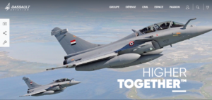 Exemple site web Dassault