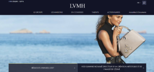 Exemple site web LVMH
