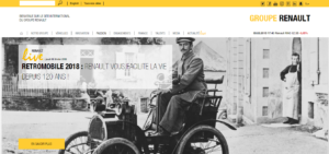 Exemple site web groupe Renault